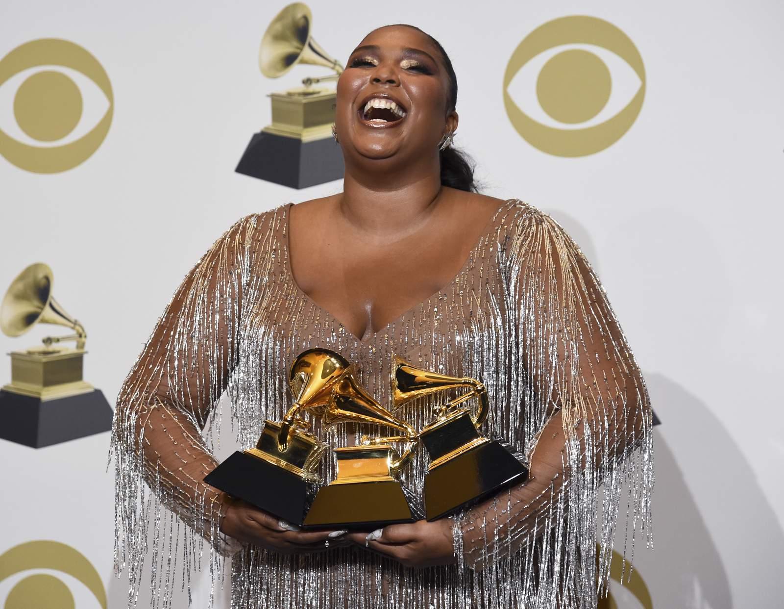 Lizzo won three Grammys, but her mind was on Kobe Bryant tragedy