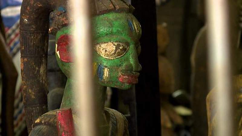 'Priceless' African art without paperwork stored in Harris County-owned maintenance shed