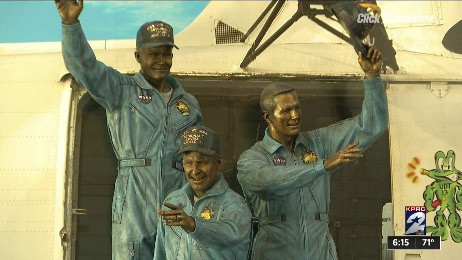 Behind the scenes: The making of Space Center Houston's Apollo 13 bronze statue
