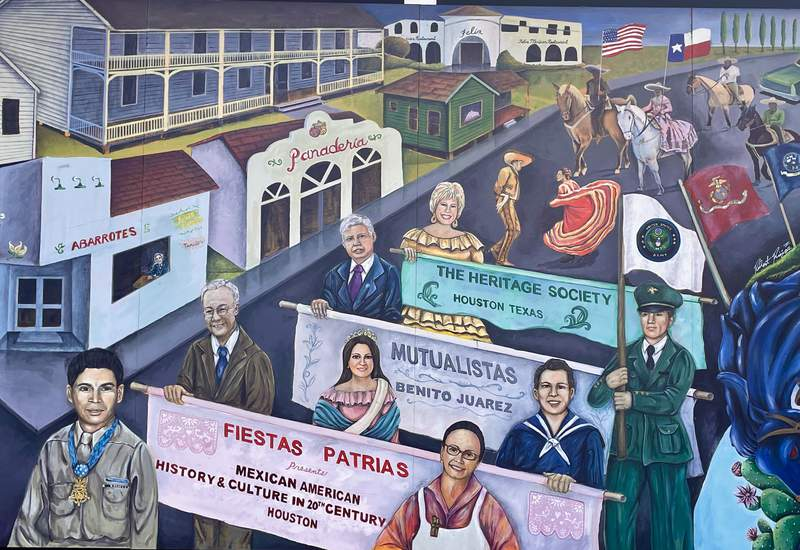 Mexican-American History & Culture in 20th Century Houston Mural at Heritage Society