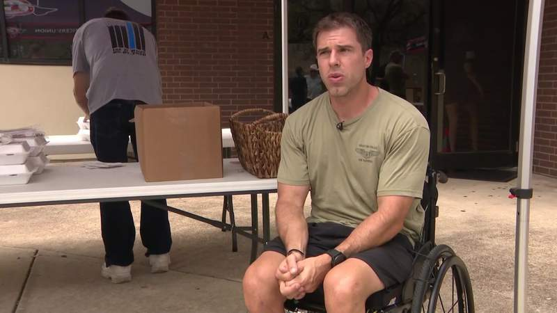Officer chase Cormier receives mobility gear