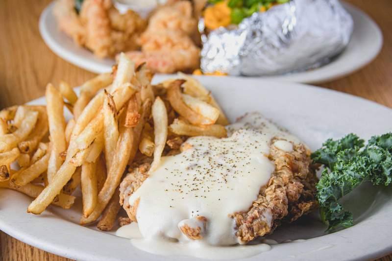 Chicken fried steak from Barbecue Inn