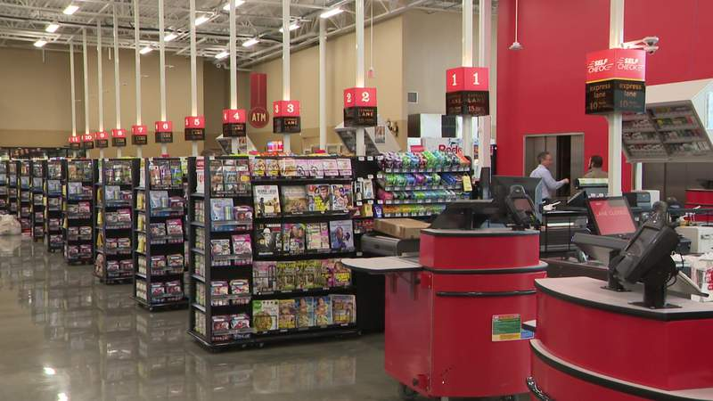 A new 95,000-square-foot H-E-B store opened in the Meyerland neighborhood of Houston on Jan. 29, 2020. It replaces the store that was shuttered after damage from Hurricane Harvey.