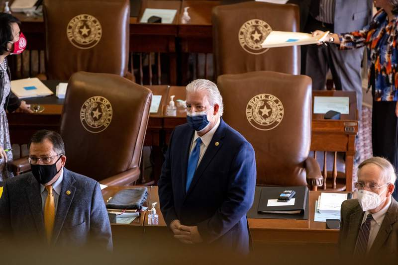 State Rep. Keith Bell, R-Forney, on the house floor on March 2, 2021.