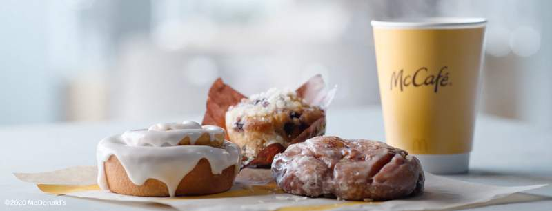 For the first time in eight years, three new baked goods join the fast-food franchise's menu: apple fritters, blueberry muffins and cinnamon rolls.