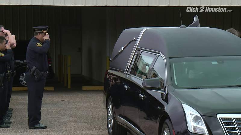 GF Default - Body of slain HPD Sgt. Christopher Brewster escorted to funeral home