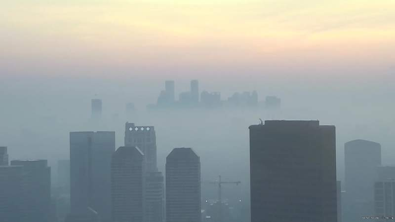 Fog Advisories are for days like this...picture from click2houston