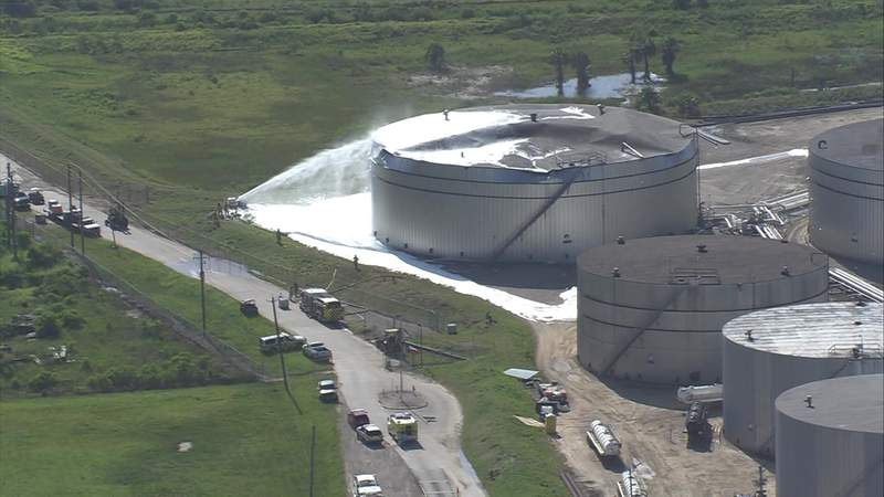 Two workers were injured when an oil tanker exploded in Galveston on May 19, 2020.