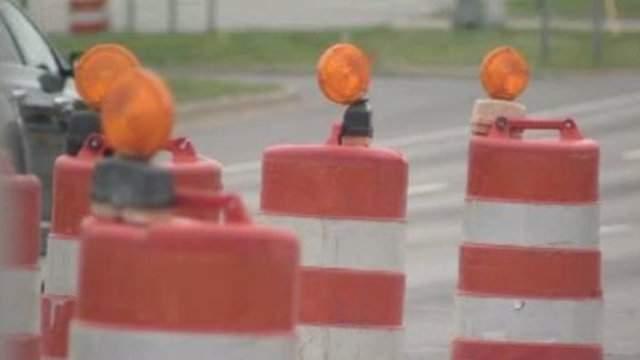 Orange construction barrels in Metro Detroit. (WDIV)