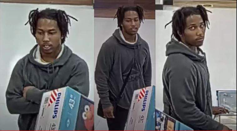 Police searching for man accused of using stolen credit card to make several luxury purchases