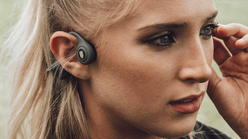 Enjoy music for up to six hours, all while keeping your ears free.