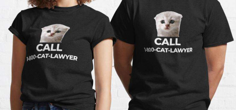 Call Cat Lawyer T-shirt