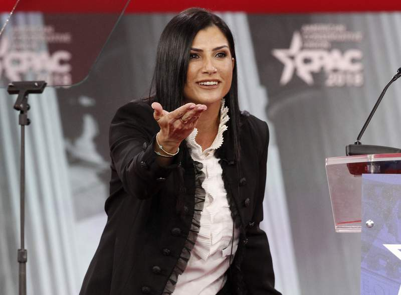 FILE - Dana Loesch, spokesperson for the National Rifle Association, speaks at the Conservative Political Action Conference (CPAC), at National Harbor, Md., on Feb. 22, 2018. Radio America announced Tuesday that it had signed Loesch to a multi-year contract extension. She's been doing a show in the same afternoon time slot that Limbaugh occupied since 2014, and is now on about 200 radio stations. (AP Photo/Jacquelyn Martin, File)