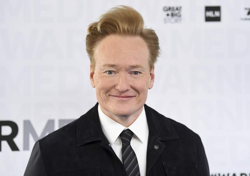 File-This May 15, 2019, file photo shows talk show host Conan O'Brien attending the WarnerMedia Upfront at Madison Square Garden in New York. OBrien ended his nearly 11-year run on TBS, Thursday, June 24, 2021, with the final episode of the late-night show Conan. (Photo by Evan Agostini/Invision/AP, File)