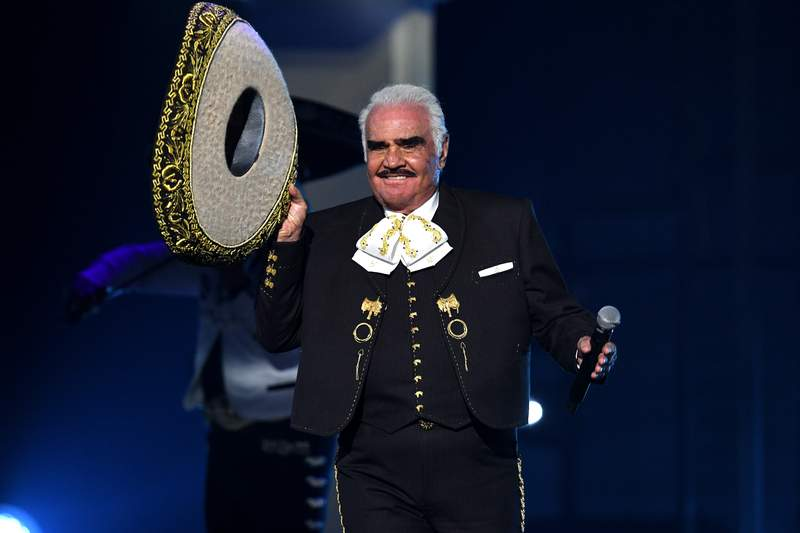 LAS VEGAS, NEVADA - NOVEMBER 14: Vicente Fernández performs onstage during the 20th annual Latin GRAMMY Awards at MGM Grand Garden Arena on November 14, 2019 in Las Vegas, Nevada. (Photo by Kevin Winter/Getty Images for LARAS)