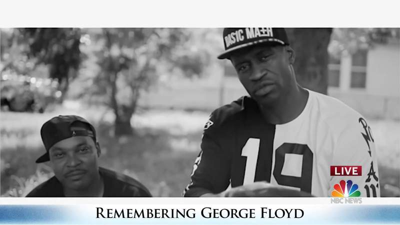 Photo and video montage shows at George Floyd's funeral