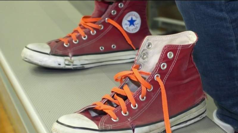 Alvin ISD's Coach Robert Moore has been teaching for over 2 decades in the same red Converse shoes | HOUSTON LIFE | KPRC 2