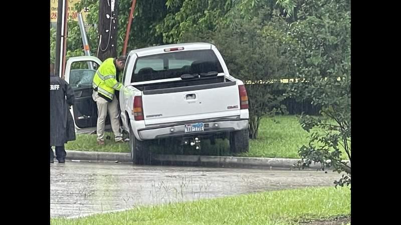 Driver found shot after crash