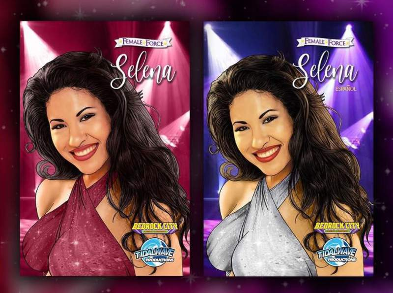 Two exclusive variant covers of Selena's new comic features different color palettes paying tribute to the Queen of Tejano.