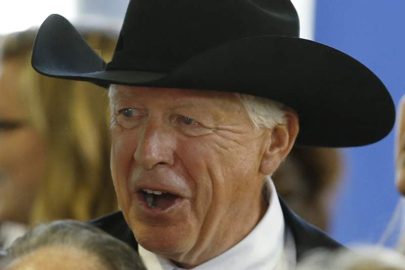 FILE - In this May 27, 2015, file photo, businessman, Foster Friess is seen in Cabot, Pa. Friess, a wealthy investor and nationally known GOP donor and kingmaker, died Thursday, May 27, 2021, at 81. (AP Photo/Keith Srakocic, File)