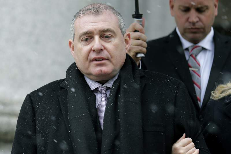 FILE- In this Dec. 2, 2019, file photo, Lev Parnas arrives to court in New York. On Thursday, Sept. 17, 2020, federal prosecutors brought new wire fraud charges against the associate of Rudy Giuliani, who was involved in attempts to get Ukrainian officials to investigate Joe Biden's son. (AP Photo/Seth Wenig, File)