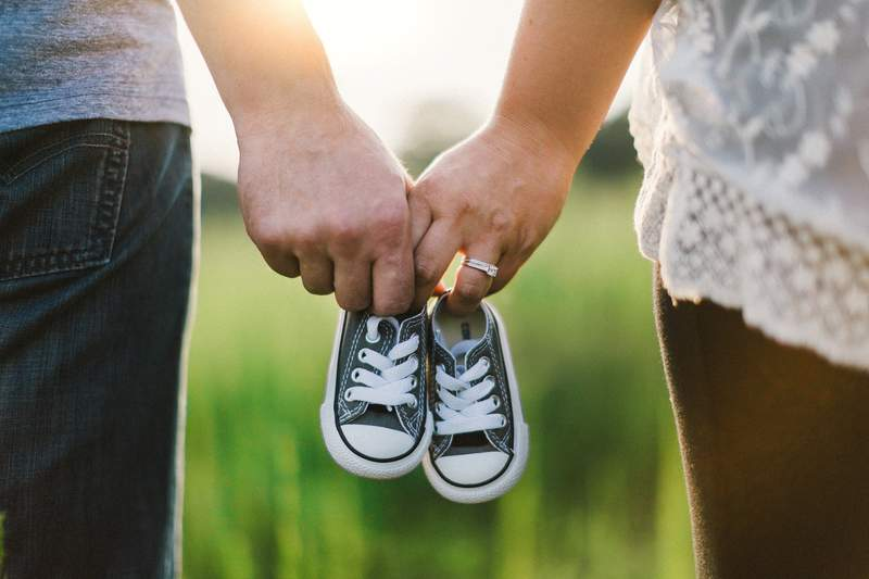 Stock image of a baby announcement