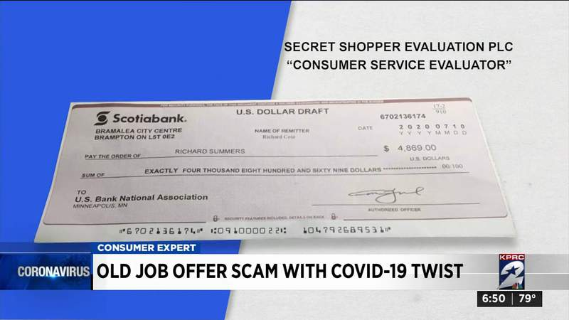 Old job offer scam with COVID-19 twist