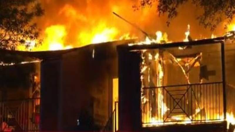 Fire spreads through north Harris County apartment complex; firefighter and resident injured: Officials