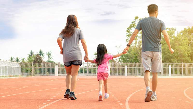 Designating time for family fitness is an effective way to strengthen your family bond while relieving stress and anxiety.