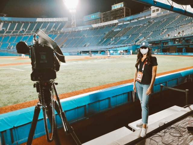 Christine Noel's coverage of Team USA and Israel's game at Yokohama Baseball Stadium.