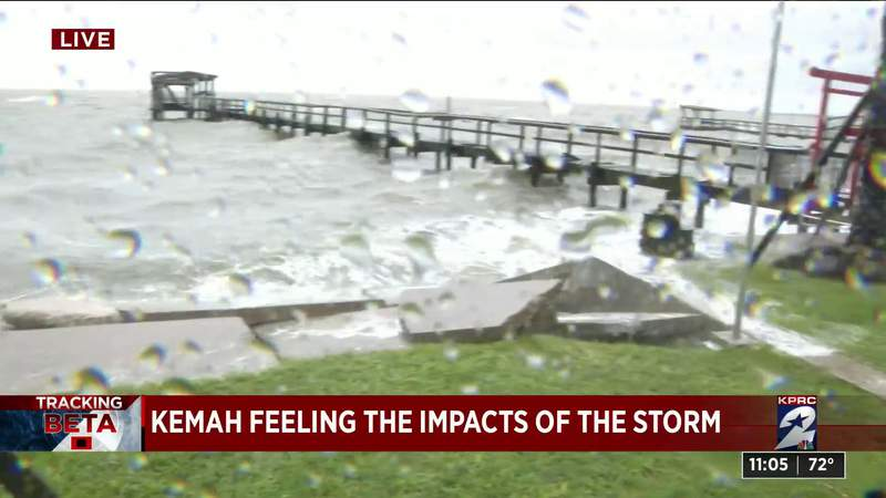 Kemah feeling the impacts of the storm