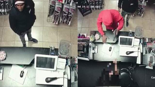Houston police are searching for two men who robbed a beauty store on Cullen Blvd. in January.