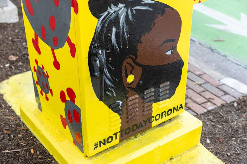 Midtown Houston has partnered with UP Art Studio to create relevant, unconventional mini murals in the district.