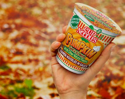 Nissin Foods announced Pumpkin Spice flavored cup noodles coming in October.
