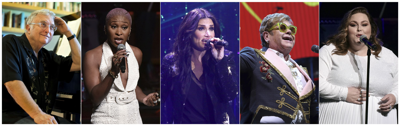 Elton John, Erivo, Menzel, Metz entre los artistas Oscar 2