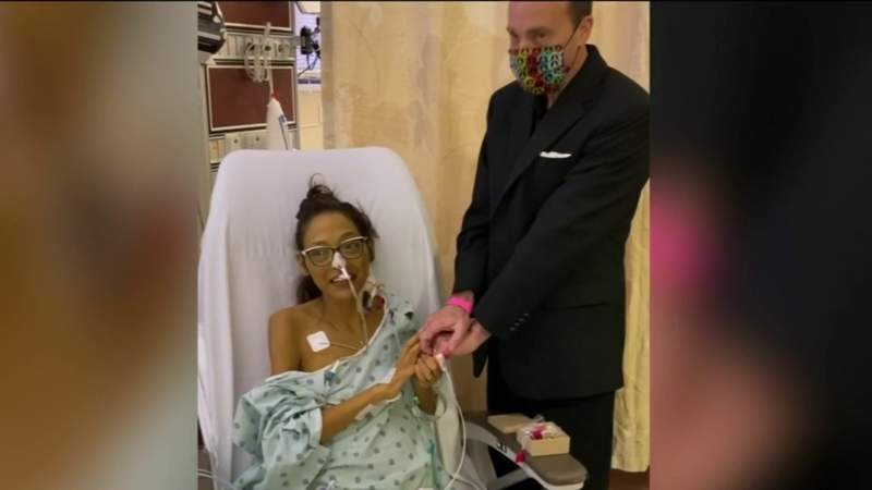 Couple gets married in ICU as wife fights monthslong battle with COVID-19