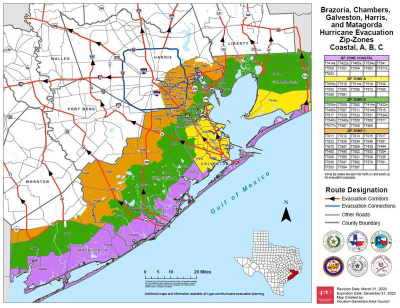 Evacuation Zone (Image from Office of Homeland Security and Emergency Management)