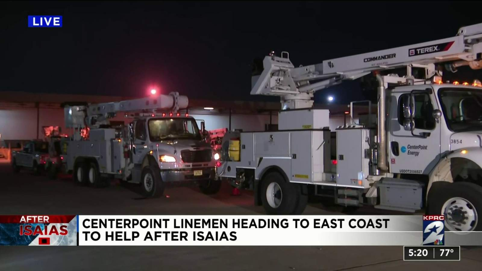 CenterPoint linemen heading to East Coast to help...