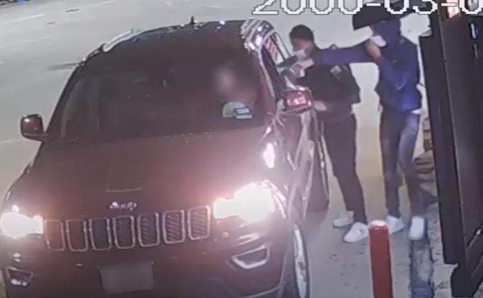 The Houston Police Department is asking for the public's assistance identifying the suspects responsible for aggravated robbery with a deadly weapon in April.