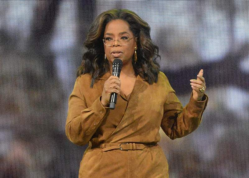 """FILE - This Feb. 8, 2020 file photo shows Oprah Winfrey speaking at """"Oprah's 2020 Vision: Your Life in Focus"""" tour in New York. Winfrey reversed her book club selection of Kate Elizabeth Russells upcoming My Dark Vanessa after the novel was briefly the subject of online controversy, a spokeswoman confirmed Thursday. """"Ultimately we did not end up moving forward with it as a book club selection, a spokeswoman for Winfrey said.  (Photo by Brad Barket/Invision/AP, File)"""