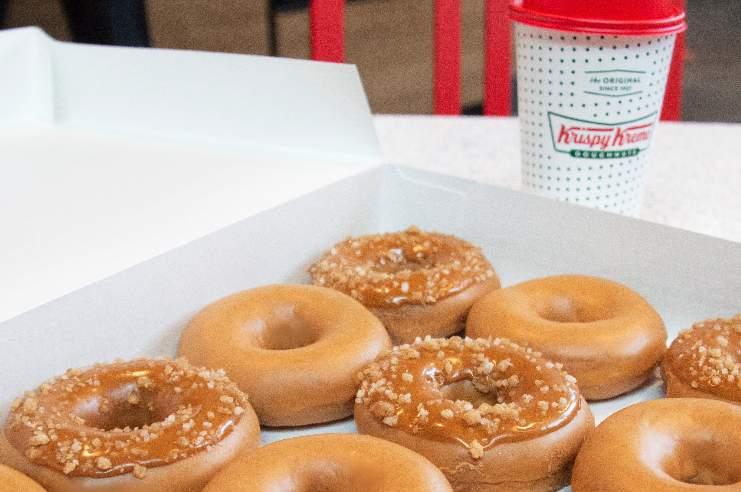 Krispy Kreme caramel glazed doughnut collection