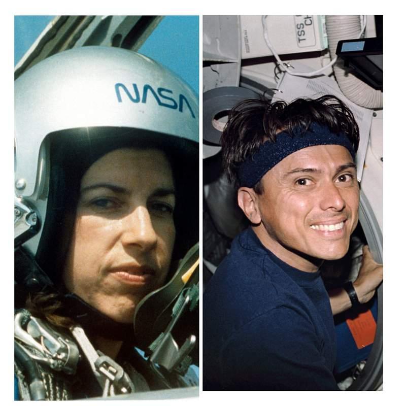 Ellen Ochoa (left) and Franklin Chang-Diaz.