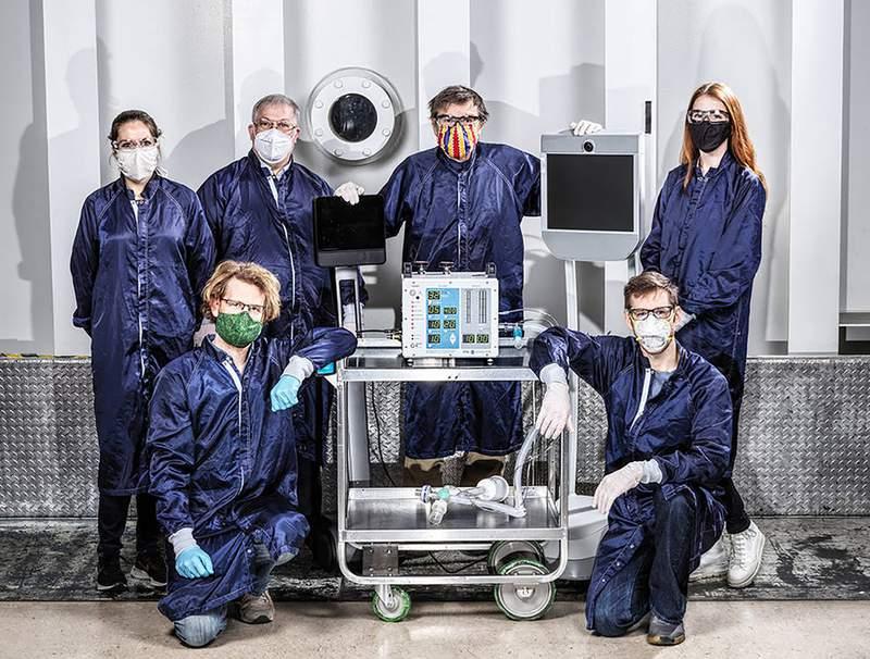 Engineers at NASA's Jet Propulsion Laboratory in Pasadena created a ventilator prototype designed to help coronavirus patients.