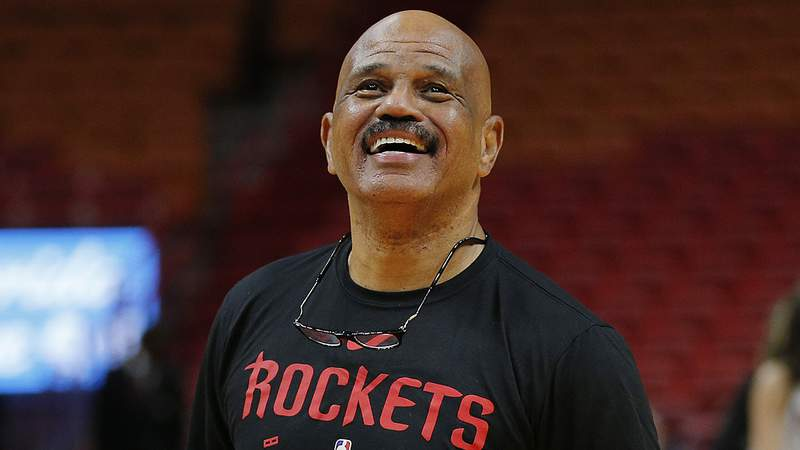 MIAMI, FLORIDA - OCTOBER 18:  Assistant coach John Lucas II of the Houston Rockets looks on prior to the game between the Miami Heat and the Houston Rockets at American Airlines Arena on October 18, 2019 in Miami, Florida. NOTE TO USER: User expressly acknowledges and agrees that, by downloading and or using this photograph, User is consenting to the terms and conditions of the Getty Images License Agreement. (Photo by Michael Reaves/Getty Images)