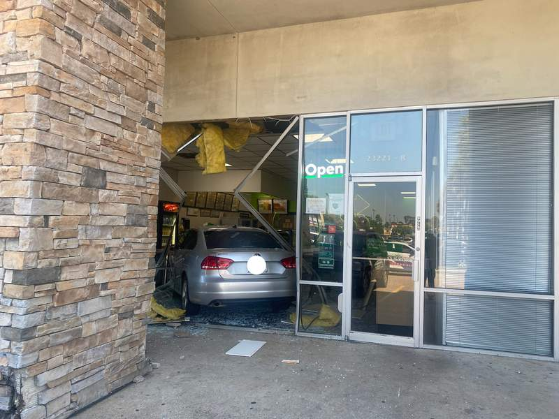 Vehicle crashes into Subway in Spring on Oct. 5, 2020.