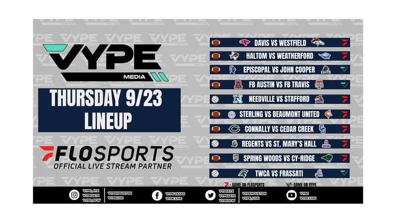 VYPE Live Lineup - Thursday 9/23/21