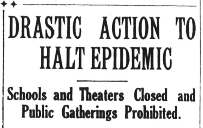 Article clip from the Houston Post's newspaper published on October 10, 1918
