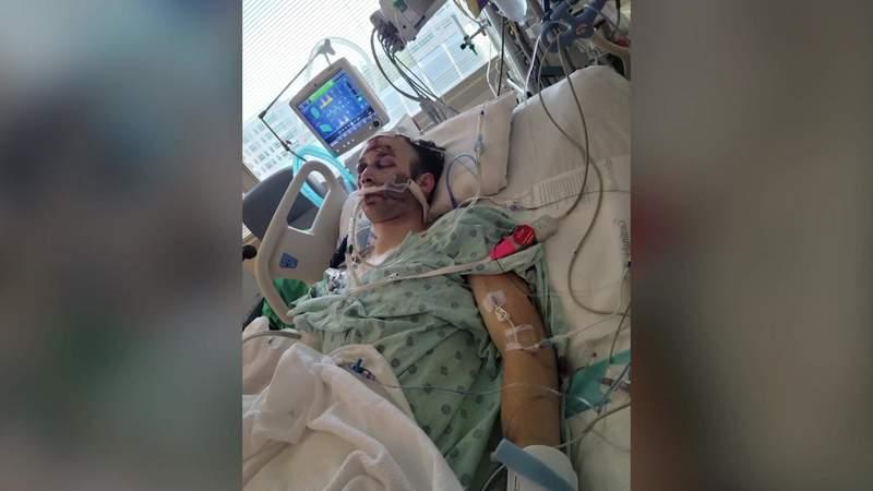 Driver hits man on shoulder of I-45