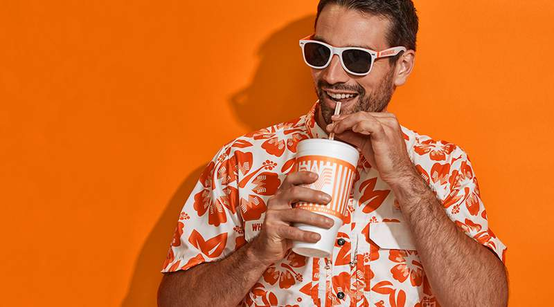 Whataburger, Academy release line of orange-and-white fishing apparel