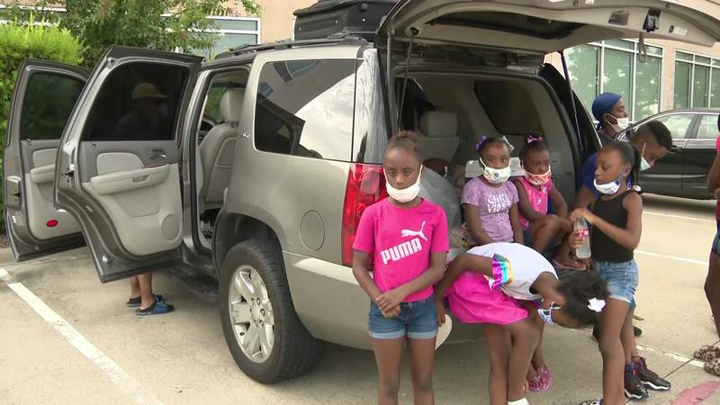 Family with 7 children who evacuated to Houston before Hurricane Laura forced to sleep in SUV
